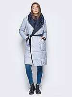 Куртка женская пуховик одеяло play оверсайз M 46 серый синий UAJJ033_10