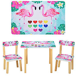 Стол с 2 стульями детский Bambi 501-43 фламинго