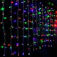 Штора 3х1 м 120 led белый провод, цвет разноцветный - декоративная гирлянда на Новый год