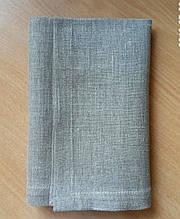 Салфетка 40 х 40 ткань Лен серый натуральный цвет 330.