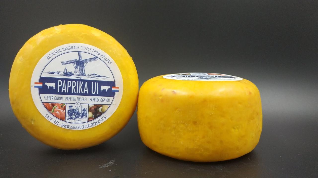 Сыр голландский авторский Berkhout Paprika UI паприка-лук цена за шт (350-400г)