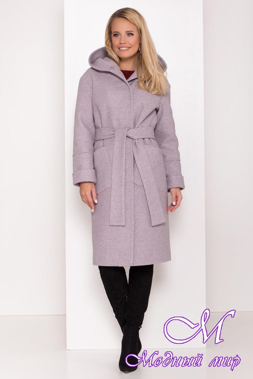 Женское удлиненное зимнее пальто с капюшоном (р. S, М, L) арт. А-82-13/44276