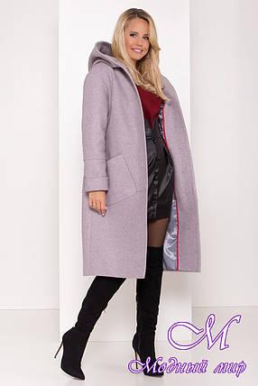 Женское удлиненное зимнее пальто с капюшоном (р. S, М, L) арт. А-82-13/44276, фото 2