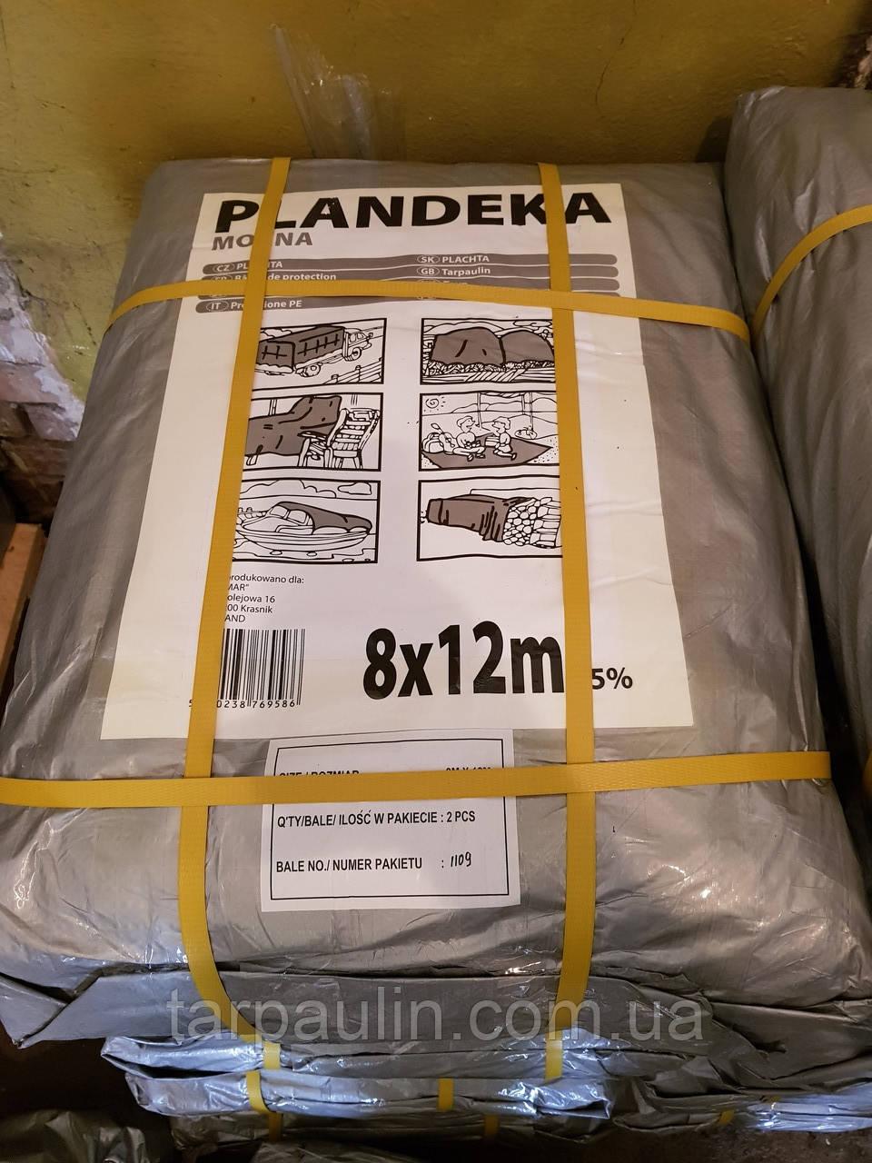 Тент Tenexim Mocny 8*12 м, готовые размеры в асс., плотный 120 г/м2 серебряный с УФ-защитой