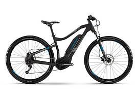 Велосипед Haibike SDURO HardNine 1.0 400Wh 9 s. Altus19 HB YCS , рама XL, черно-серо-синий матовый , 2019