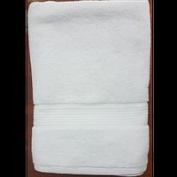 Рушник банний махровий 100% бавовна білий р.70х140см,  щільність 550г/м2 Узбекистан
