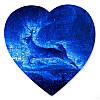 Пазл у формі серця - Полярний олень 190х190 мм