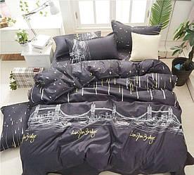 Полуторный размер постельное белье «Ночной город»
