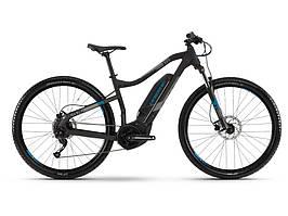 Велосипед Haibike SDURO HardNine 1.0 400Wh, рама M, черный/серый/синий матовый, 2019