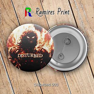 Значок  Disturbed 003