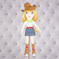 Мягкая кукла Эпплджек, «Май Литл Пони: Девочки из Эквестрии», игрушка пони Applejack, My Little Pony