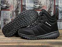 Зимние кроссовки  на меху Kajila Fashion Sport, черные (30991) размеры в наличии ► [  37 38 39 41  ]