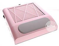 Вытяжка для маникюра Nail Dust Collector BQ-858-8, 80 Вт (розовая), фото 1