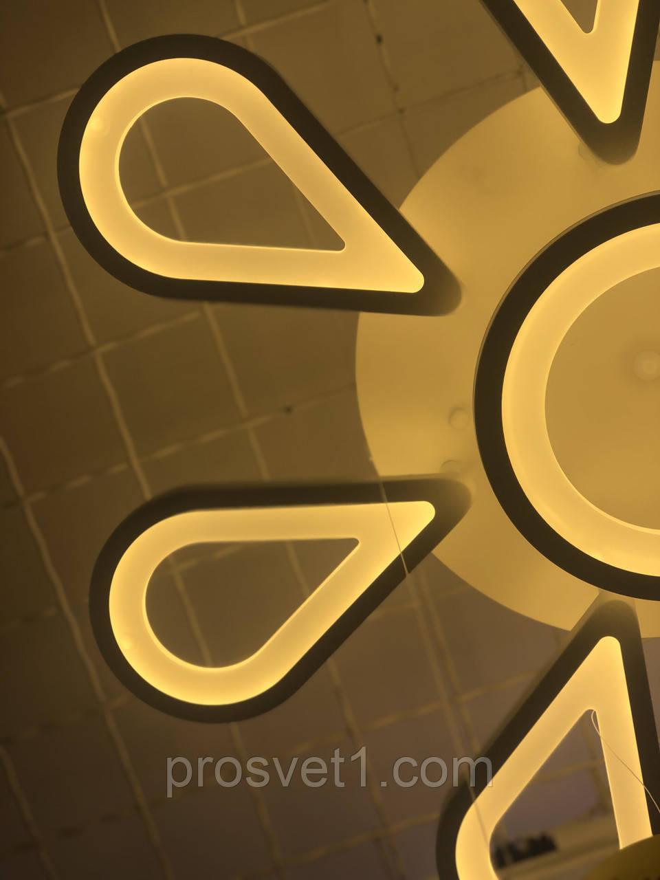 Люстра светодиодная акрил QQ-Y1110/8 WH***