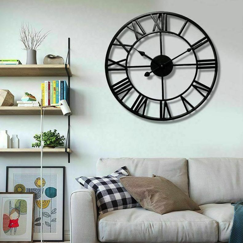Кованные настенные часы BLACK ROME