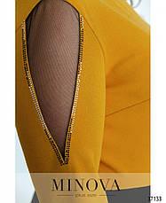 Платье женское нарядное комбинированное, фото 3