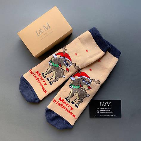Шкарпетки жіночі I&M Craft новорічні з оленями (070345), фото 2