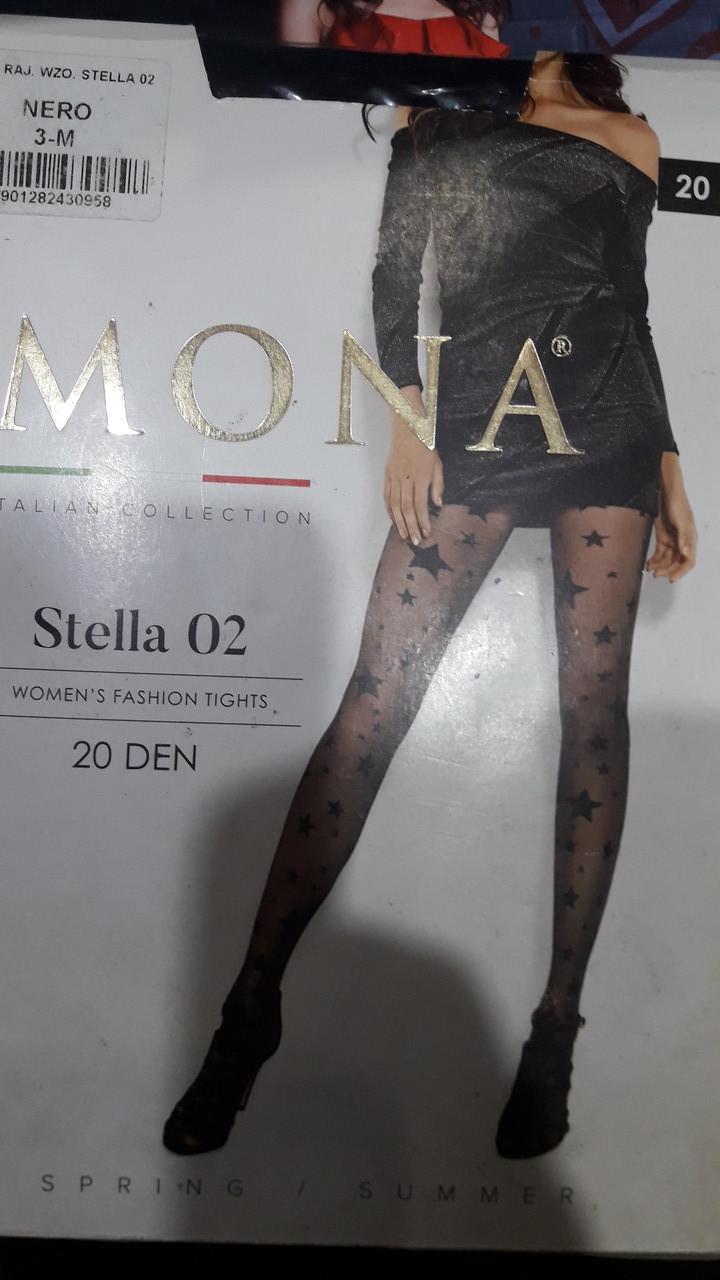Фантазийные колготки MONA со звездами 20 den
