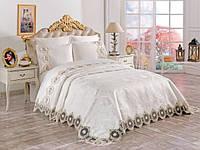 Набор постельного белья с покрывалом Евро размер Angela