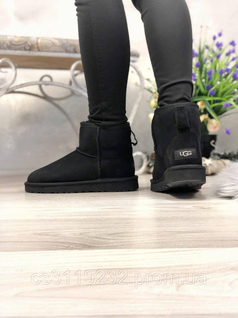 Жіночі чоботи зимові UGG Classic 2 Mini Black (чорний)