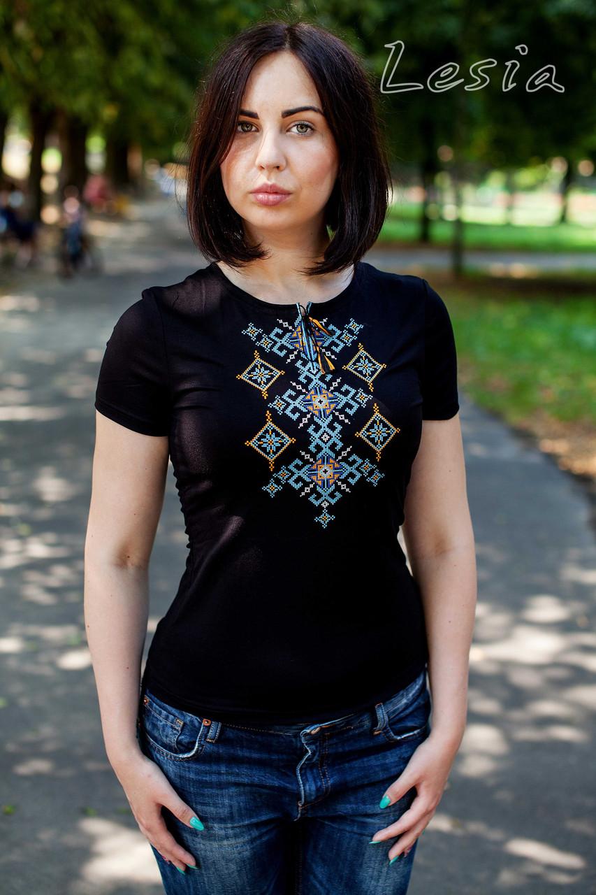 Жіноча футболка Русинка жовто-блакитна a2ff7adc494f4