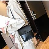 Женская классическая сумка на ремешке QS7034/10 2211/11 черная, фото 6