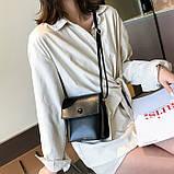 Женская классическая сумка на ремешке QS7034/10 2211/11 черная, фото 7