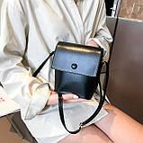 Женская классическая сумка на ремешке QS7034/10 2211/11 черная, фото 4