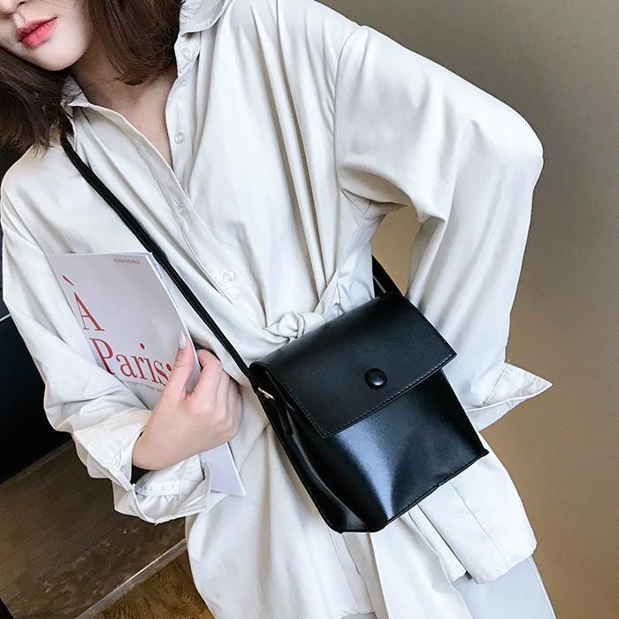 Женская классическая сумка на ремешке QS7034/10 2211/11 черная