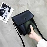 Женская классическая сумка на ремешке QS7034/10 2211/11 черная, фото 8