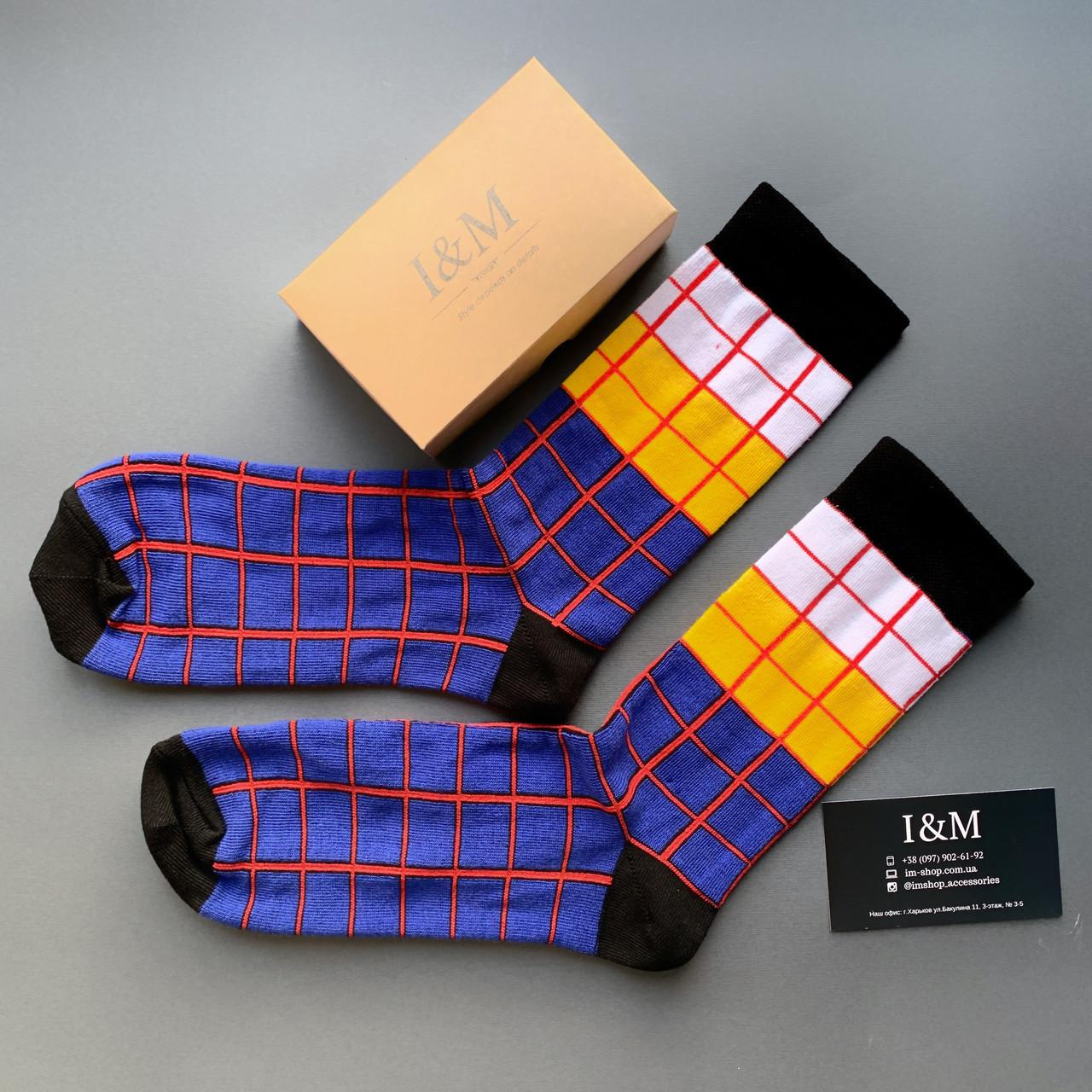 Носки I&M Craft Elegant's синие в клетку (070334)
