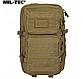 Рюкзак тактичний армійський ASSAULT об'єм 36 літрів колір койот MiL - TEC Німеччина, фото 2