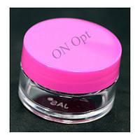 Баночка прозрачная с крышкой розового цвета (15 мл)