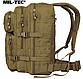 Рюкзак тактичний армійський ASSAULT об'єм 36 літрів колір койот MiL - TEC Німеччина, фото 6