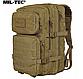 Рюкзак тактичний армійський ASSAULT об'єм 36 літрів колір койот MiL - TEC Німеччина, фото 7