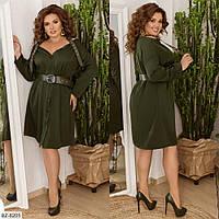 Модное платье  с ремнями бретелями р-ры 48-48 арт 167