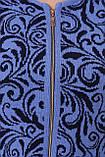 Кардиган на  змейке василек завитки, фото 4