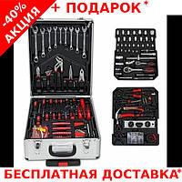 Профессиональный набор инструментов в алюминиевом чемодане с тележкой 399 штук