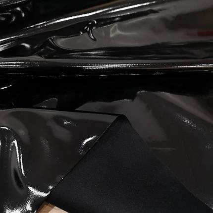 Ткань лак стрейч черный, фото 2