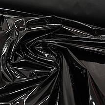 Ткань лак стрейч черный, фото 3