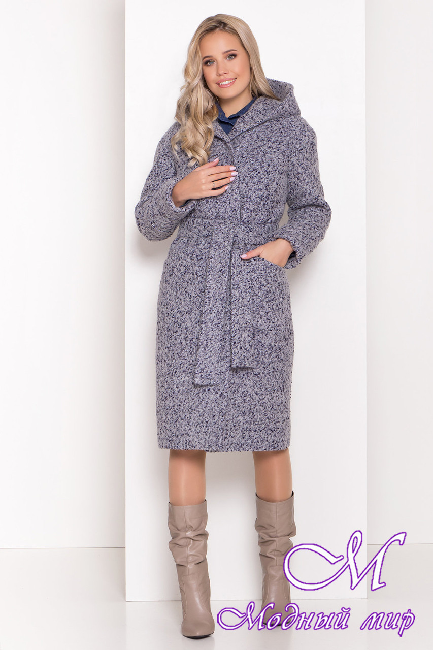 Женское серое зимнее пальто (р. S, М, L) арт. А-83-20/44440