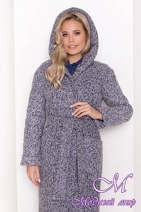 Женское серое зимнее пальто (р. S, М, L) арт. А-83-20/44440, фото 2
