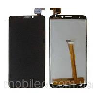 Дисплей (LCD) Alcatel 6030D One Touch Idol с тачскрином, чёрный