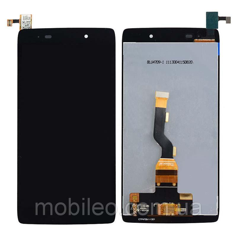Дисплей (LCD) Alcatel 6039 One Touch Idol 3 (4.7) | 6039A | 6039K | 6039Y с тачскрином, чёрный