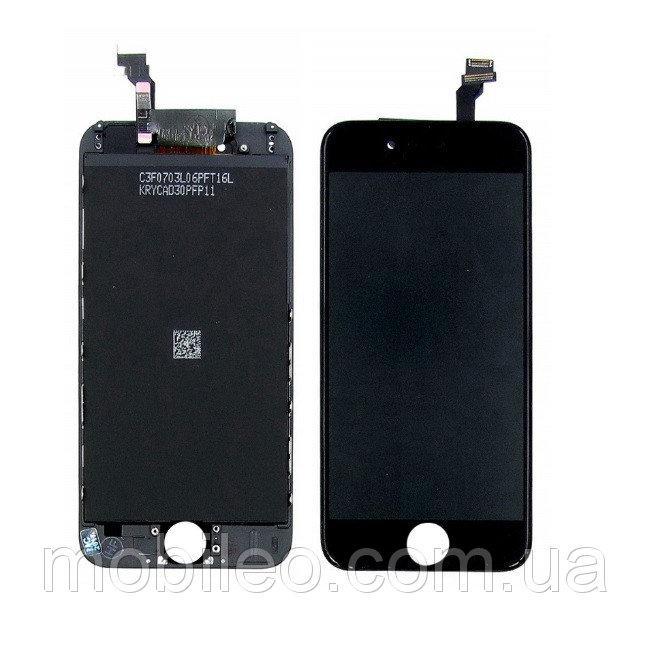 Дисплей (LCD) Apple iPhone 6 з тачскріном, чорний, оригінал (PRC)