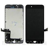 Дисплей (LCD) Apple iPhone 7 Plus с тачскрином, чёрный оригинал (Factory Refurbished)