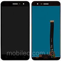 Дисплей (LCD) Asus ZenFone 3 ZE520KL с тачскрином, чёрный