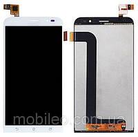 Дисплей (LCD) Asus ZenFone Go (2017) | ZB552KL с тачскрином, белый