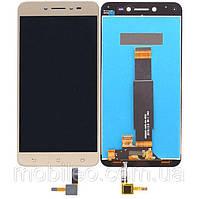 Дисплей (LCD) Asus ZenFone Live | ZB501KL | X00FD с тачскрином, золотой