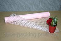 Сетка розовая Polo Cotton для упаковки цветов и подарков (9 ярдов)